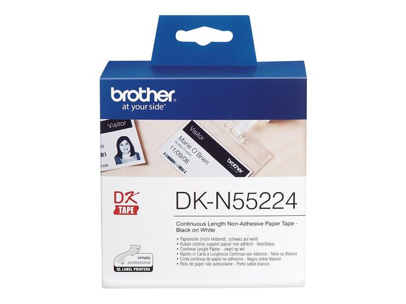 Brother Etiketter 54mm x 30.5m Svart/Vit