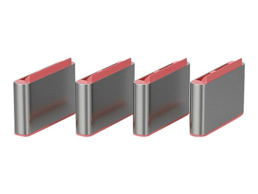 Lindy Port Blocker USB-C Rosa 4-pack