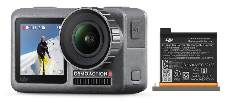 DJI Osmo Action + Battery Grå
