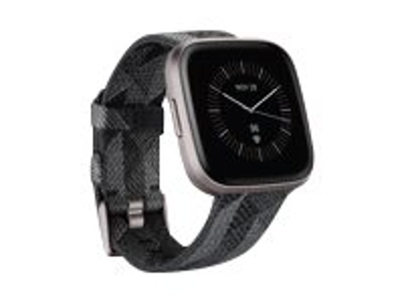 Fitbit Versa 2 Special Edition Smoke Woven Smart klocka Träkol