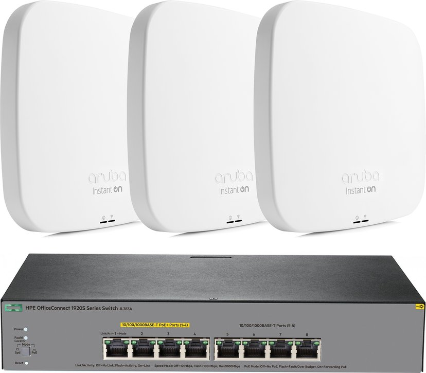 Aruba Aruba Instant On AP15 + HPE OfficeConnect 1920S 8G Switch