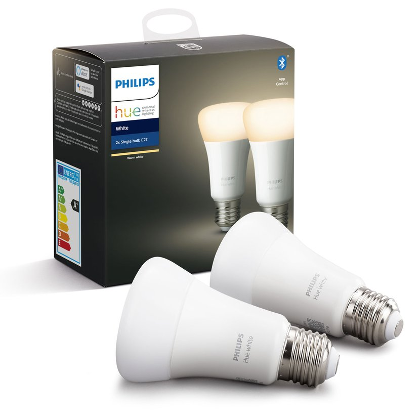 Philips Hue White A60 E27 2-Pack