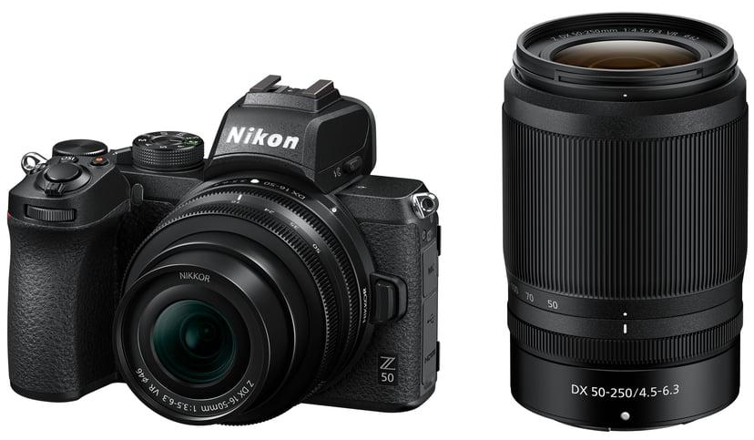 Nikon Z 50 + Z 16-50mm f/3.5-6.3 VR + Z 50-250mm f/4-6.3 VR