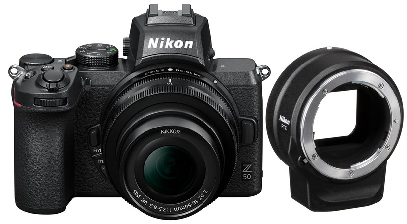 Nikon Z 50 + Z 16-50mm f/3.5-6.3 VR + Mount Adapter FTZ