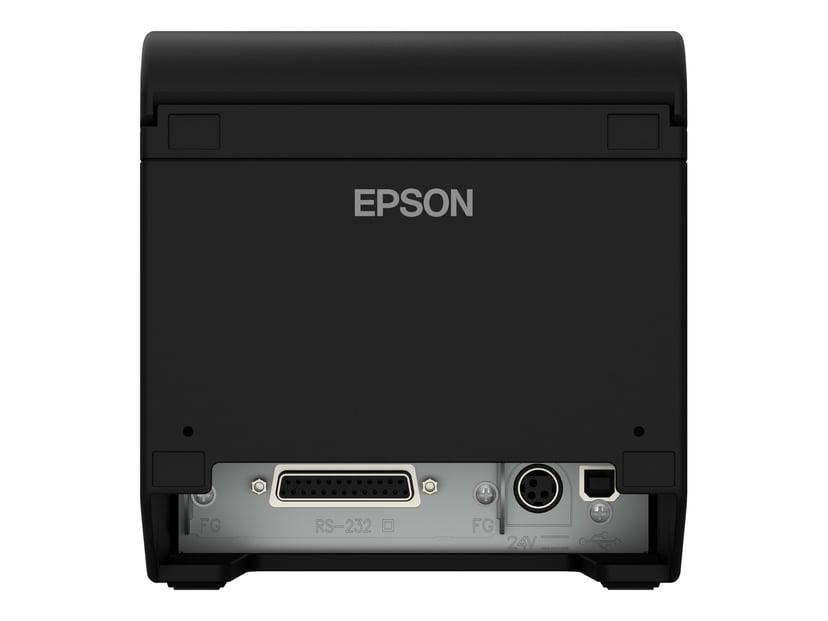 Epson Kvitteringsskriver TM-T20III Ethernet inkl. strøm Svart