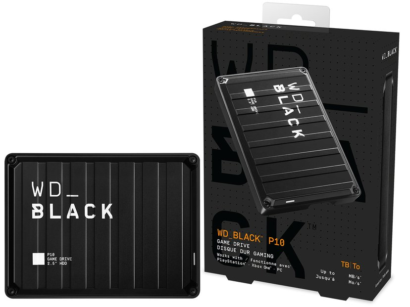 WD Black P10 Game Drive Svart
