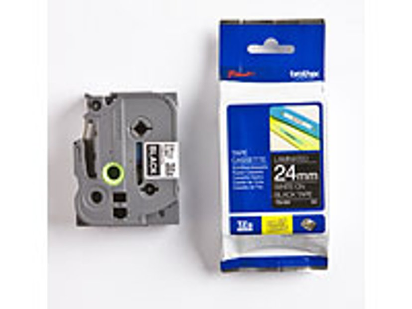 Brother Tape TZe-355 24mm Vit/Svart
