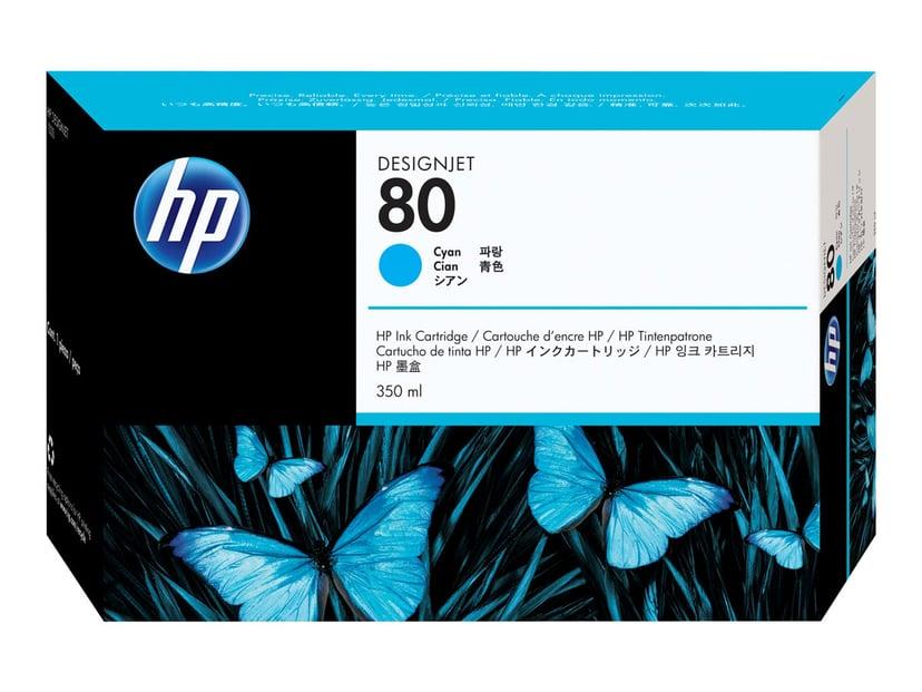 HP Blæk Cyan No.80 DJ 1050C/1055CM 350ml