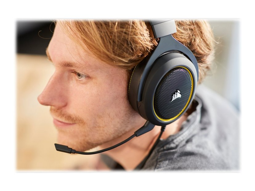 Corsair Gaming HS60 PRO SURROUND Gul, Sort