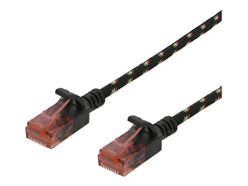 Deltaco Patch-kabel RJ-45 RJ-45 CAT 6a 1.5m Svart