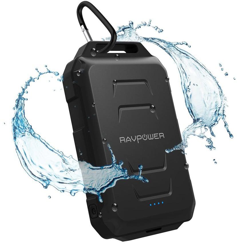 RAVPower RP-PB044 Waterproof Powerbank 10,000milliampere hour 2.4A Sort