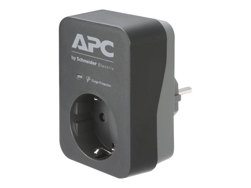 APC Essential Surgearrest PME1WB-GR Extern 16A 1st Grå, Svart