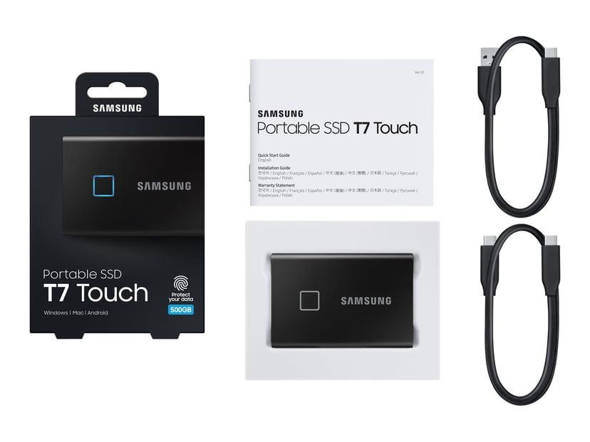 Samsung Portable SSD T7 Touch 0.5TB Zwart