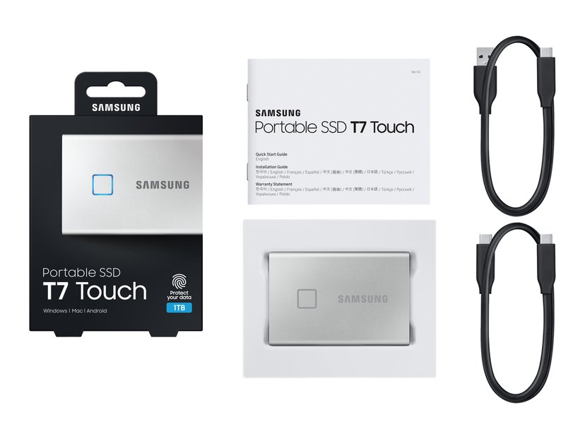 Samsung Portable SSD T7 Touch 1TB Zilver