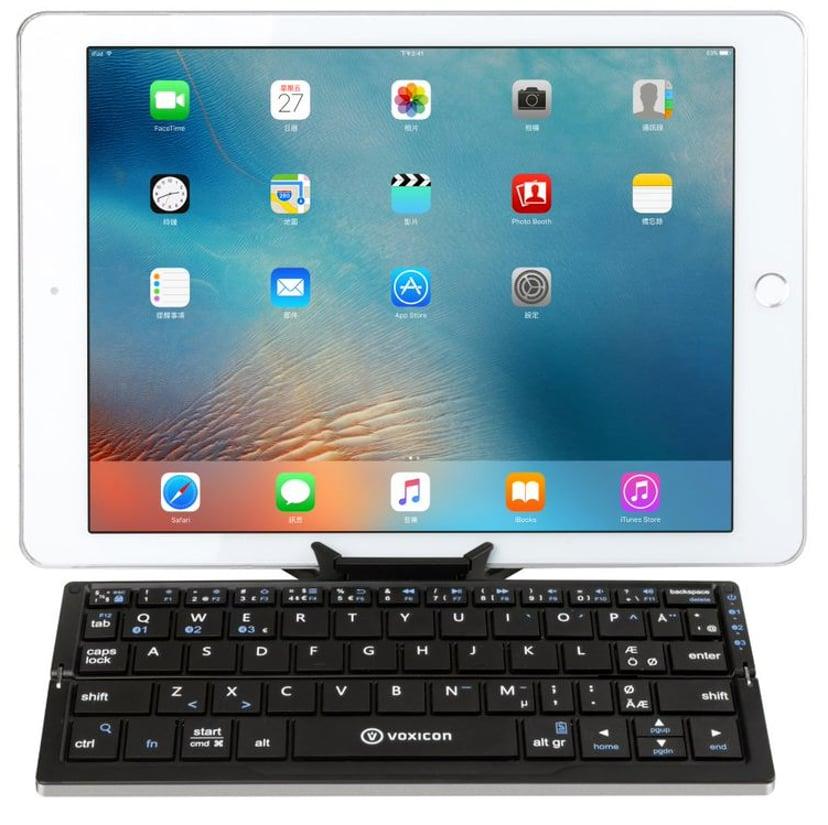 Voxicon Bt Mini 199B For Tablet Metal Langaton Näppäimistö Pohjoismaat Hopea; Musta