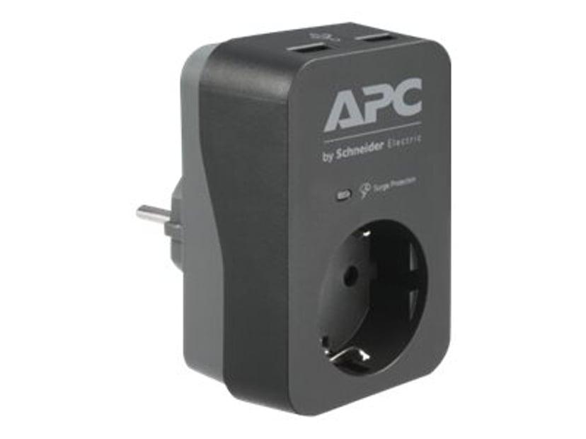 APC Essential Surgearrest PME1WU2B-GR 16A Ekstern 1st Grå, Svart