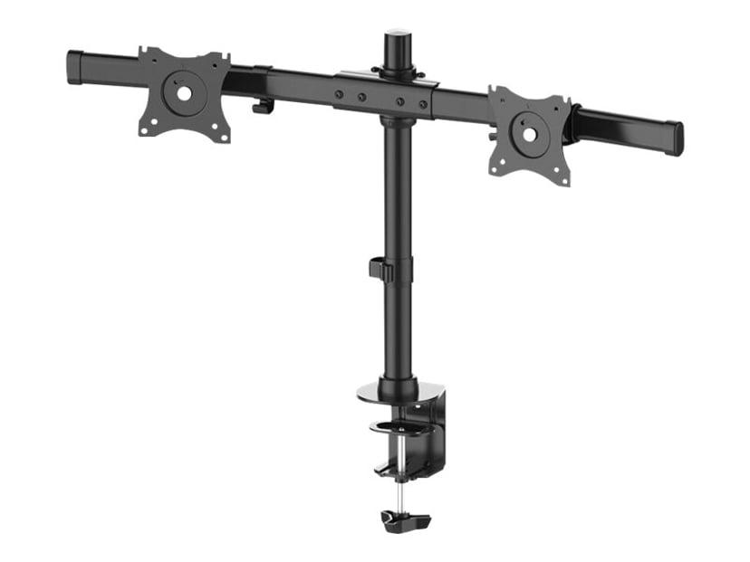 "Newstar Tilt/Turn/Rotate Dual Desk Mount (clamp & grommet) for two 10-27"" Monitor Screens, Height Adjustable"