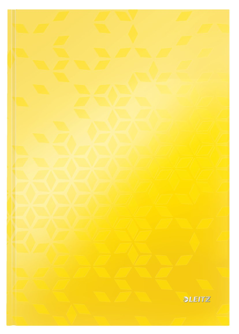 Leitz Note Book WOW A4 Ruled 90G Yellow