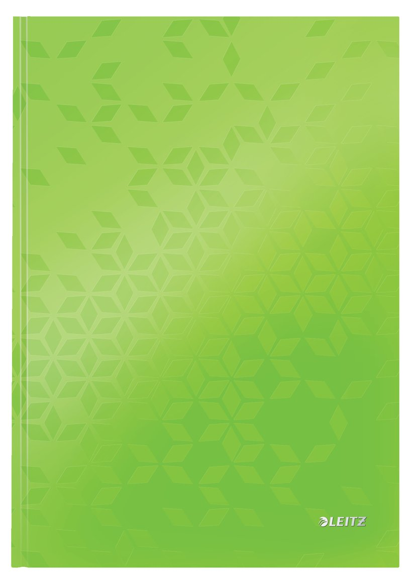 Leitz Note Book WOW A4 Ruled 90G Green