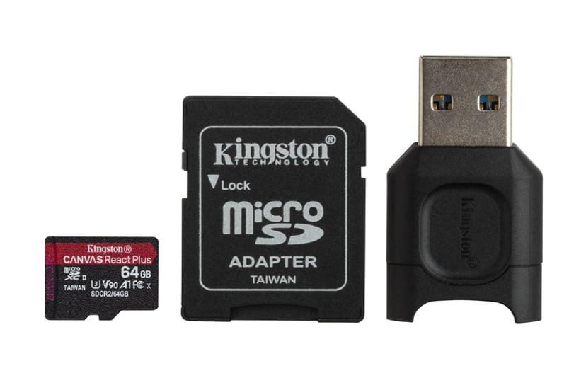 Kingston Canvas React Plus 64GB mikroSDXC UHS-II minneskort