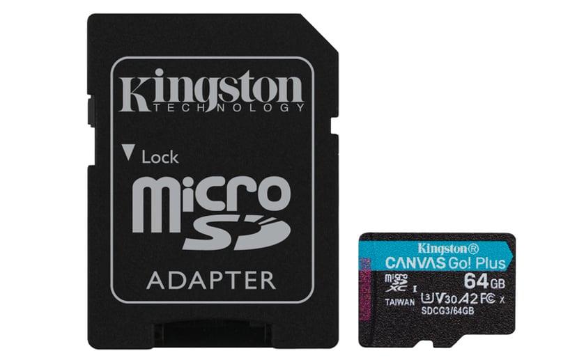 Kingston Canvas Go! Plus 64GB microSDXC UHS-I Memory Card