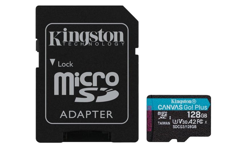 Kingston Canvas Go! Plus 128GB mikroSDXC UHS-I minneskort