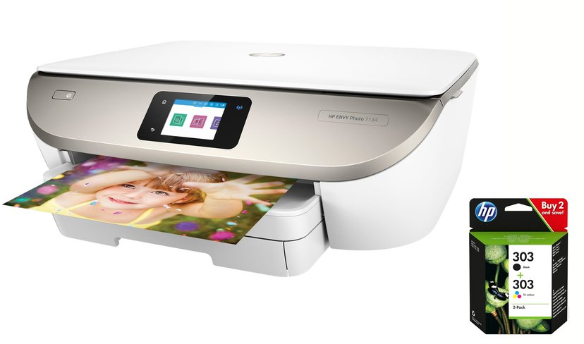 HP Envy Photo 7134 A4 All-In-One + Bläck