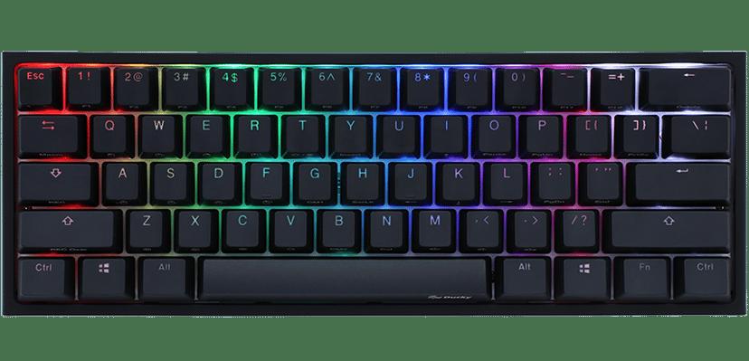 Ducky One 2 Mini Cherry Mx Silent Red RGB 2020 Kablet Tastatur Nordisk Hvit, Svart