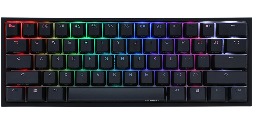 Ducky One 2 Mini Cherry Mx Blue RGB 2020 Kablet Tastatur Nordisk Hvit, Svart