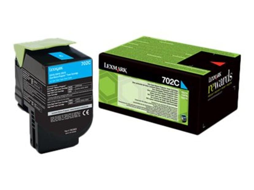 Lexmark Toner Cyan 702C 1K Return - CS310/CS410/CS510