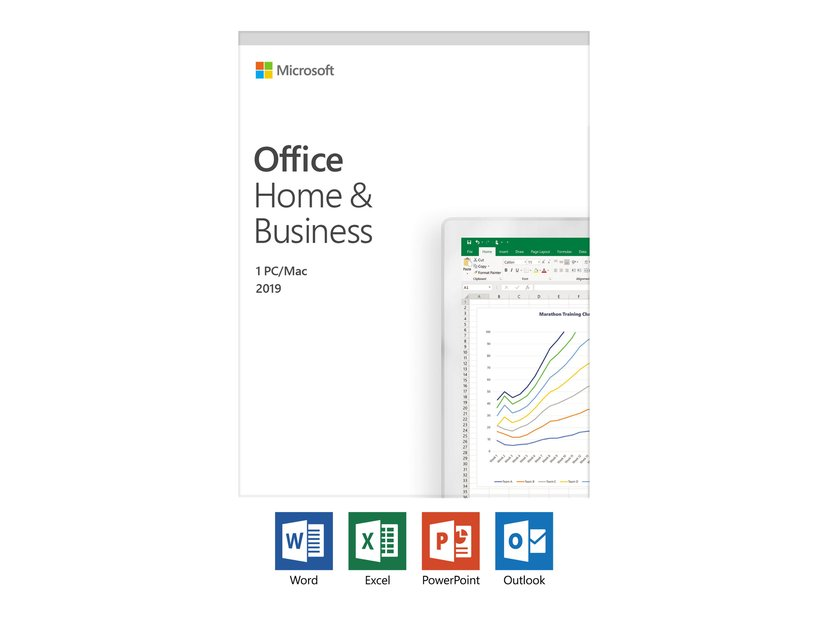 Microsoft Office 2019 Home & Business Norsk Medialess