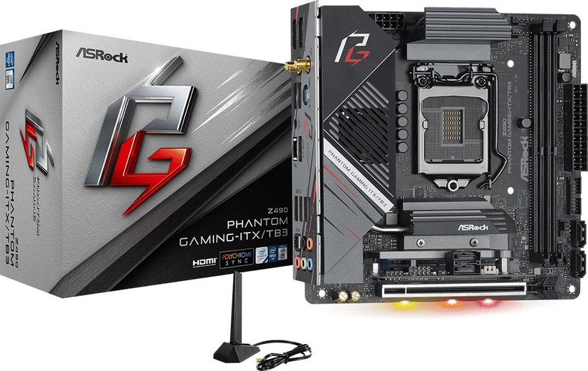 ASRock Z490 Phantom Gaming-ITX/TB3 Mini-ITX Hovedkort