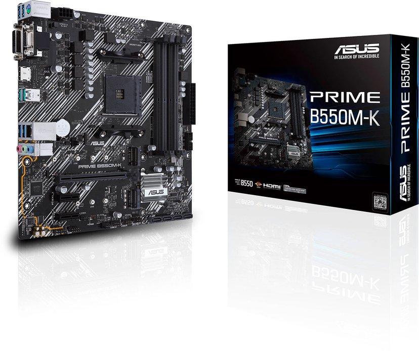 ASUS PRIME B550M-K Micro-ATX Bundkort