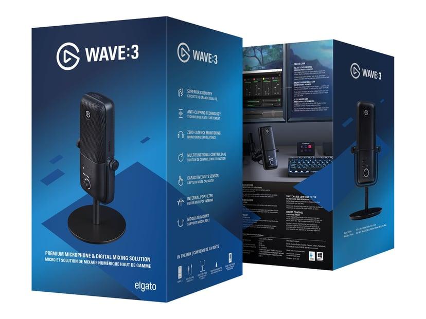 Elgato Wave 3 Musta