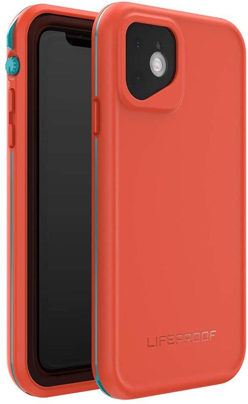 Lifeproof Fre iPhone 11 Akvamarin, Rød orange