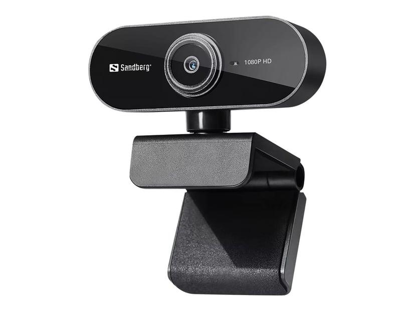 Sandberg USB Webcam Flex 1920 x 1080 Webkamera Sort
