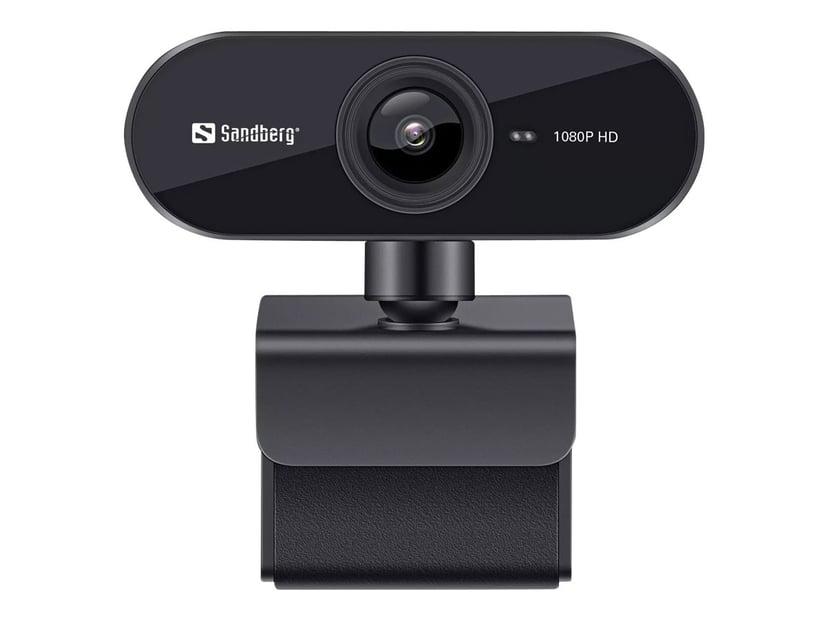 Sandberg USB Webcam Flex Svart Webbkamera 1920 x 1080