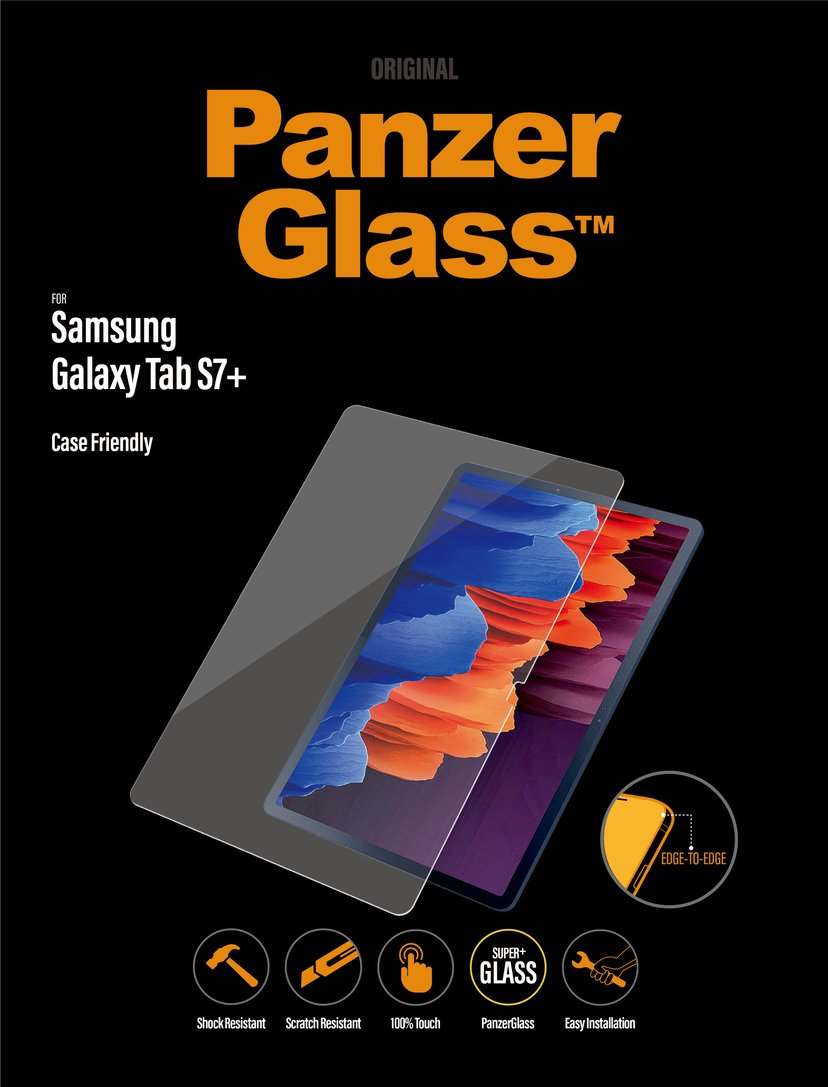 Panzerglass Samsung Galaxy Tab S7+ Case Friendly Samsung Galaxy Tab S7+