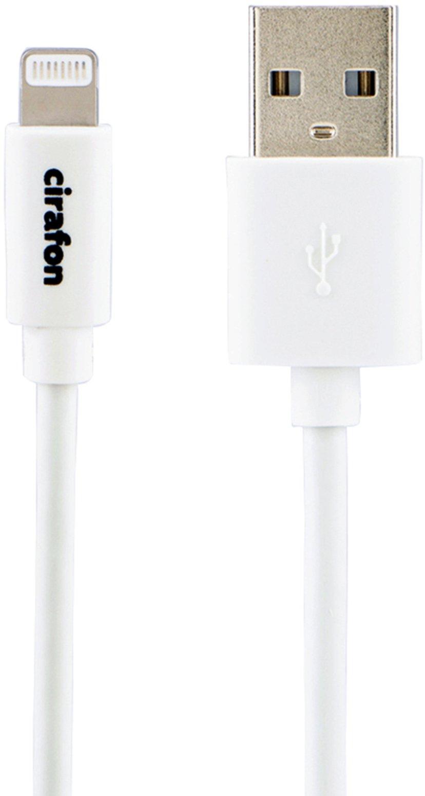 Cirafon iPad/iPhone/iPod-opladning/datakabel 2m Hvid