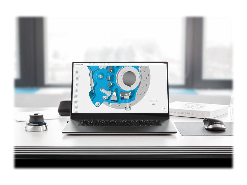 3DConnexion Spacemouse Wireless Kit 2 3D-mus Kablet, Trådløs Svart, Sølv