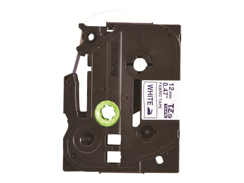 Brother Tape TZe-FA3 12mm Cloth White/Blue