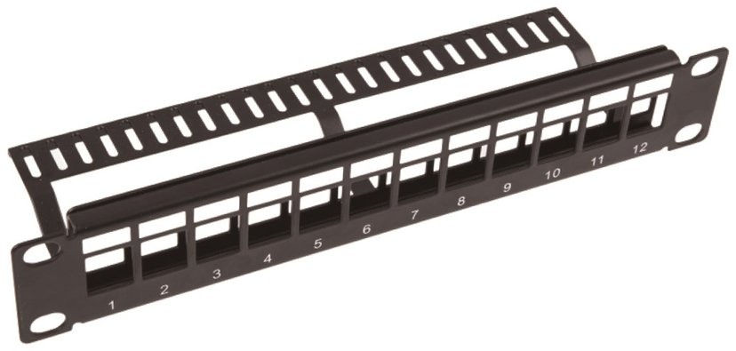 Direktronik Patchpanel 12 porter