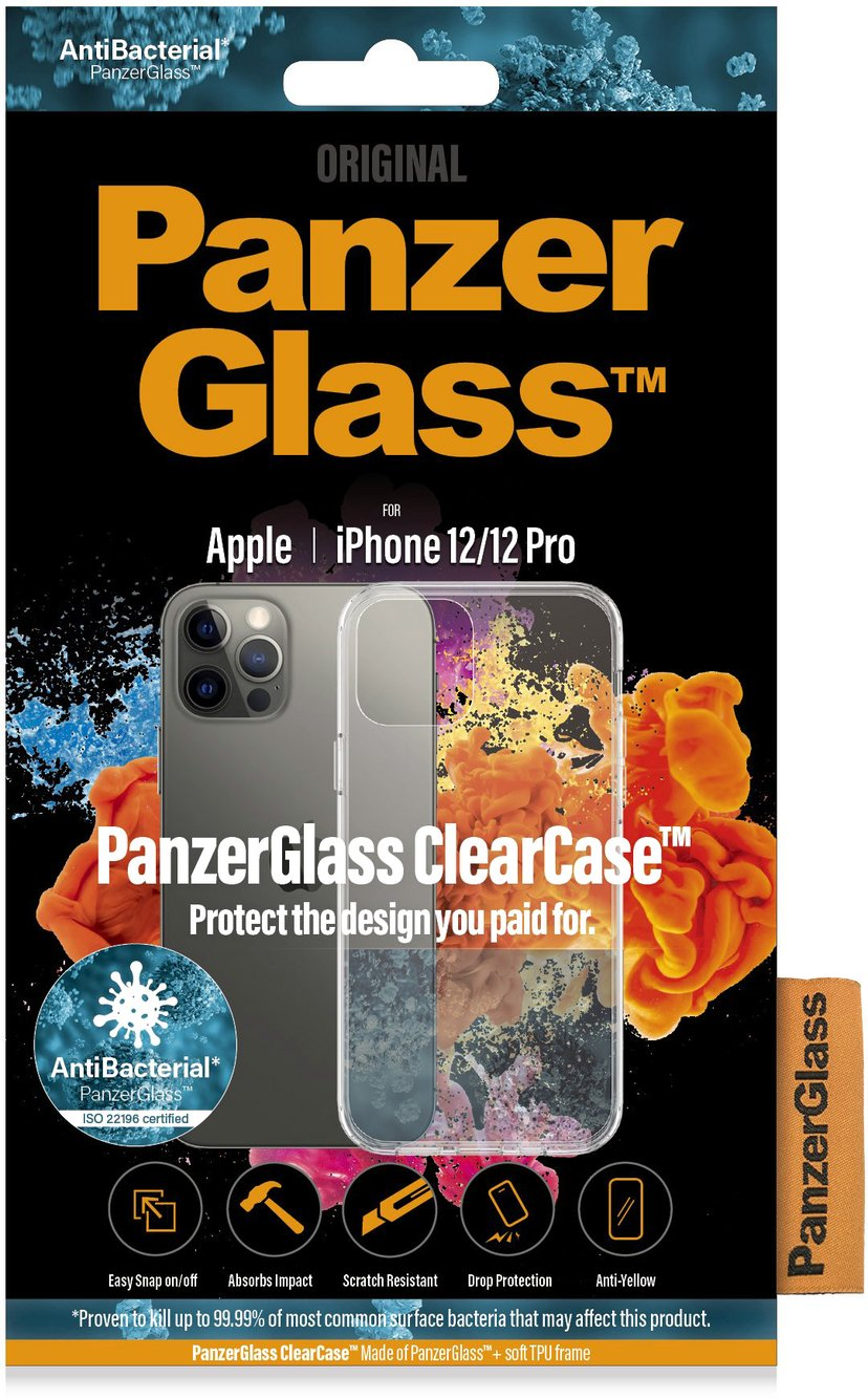 Panzerglass ClearCase iPhone 12, iPhone 12 Pro Transparant