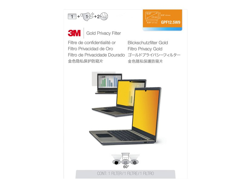 """3M Privacy filter 12.5"""" 16:9"""