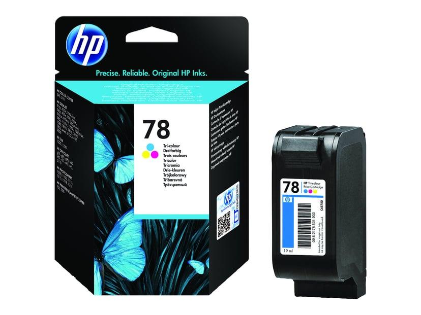 HP Blæk Farve No.78, DJ 9XX/12XX/G-SER/V40 19ml