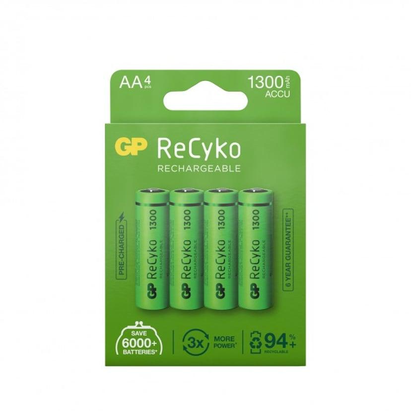 GP Batteri ReCyko 4st AA 1300mAh Laddbara