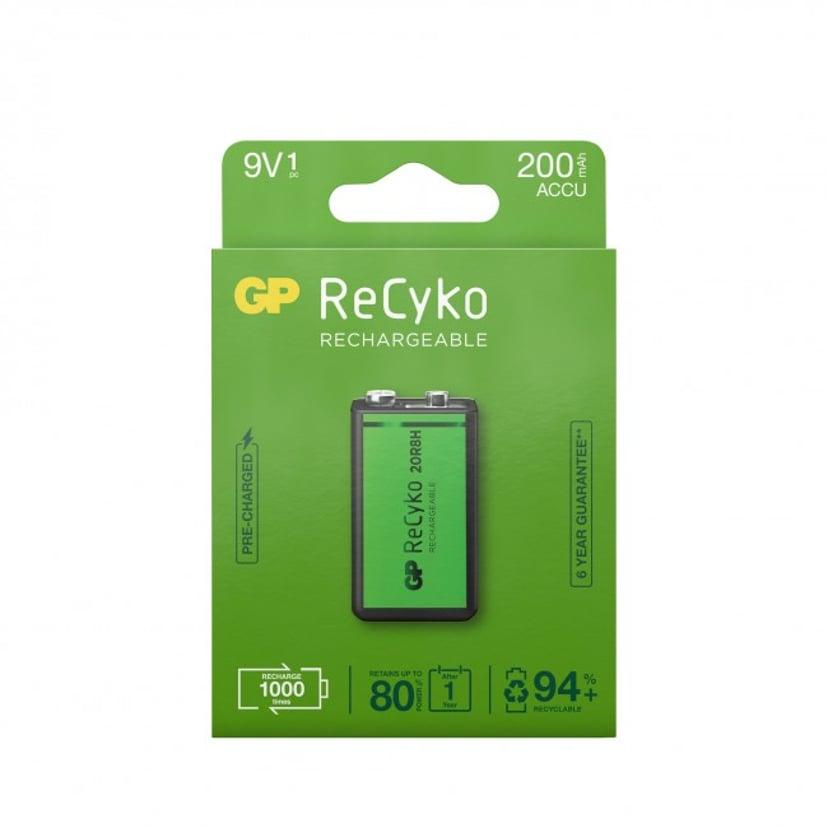 GP Batteri ReCyko 1 stk. 9V 200mAh Genopladelige
