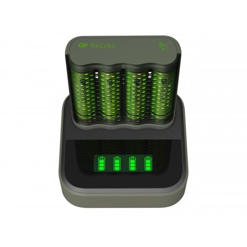 GP ReCyko Speed Charger M451 USB + Opladningsdock + 4 stk. 2600mAh Batterier