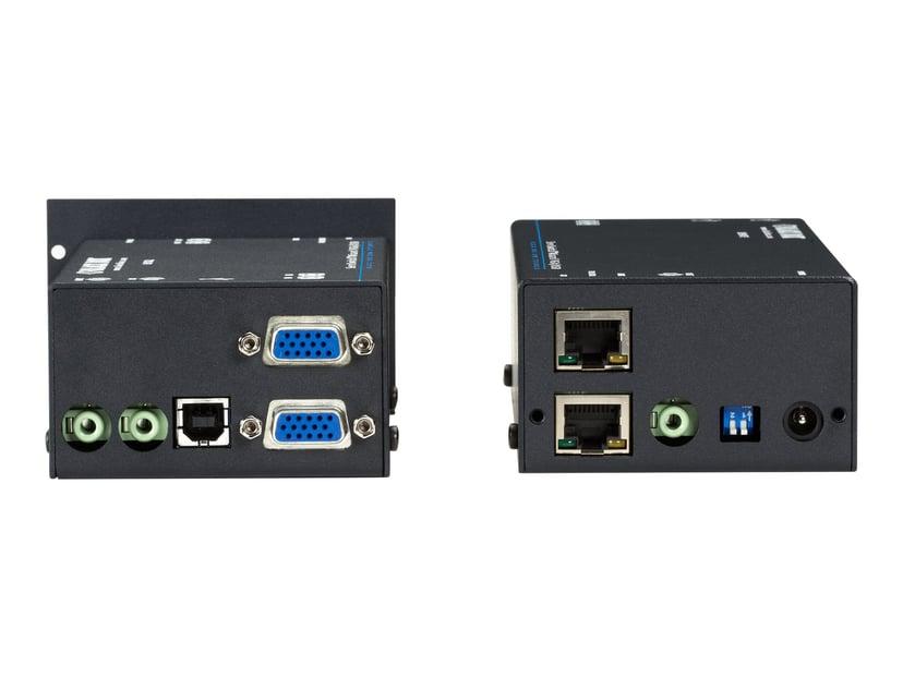 Black Box KVM Extender Over CATX - Dual VGA Audio USB 1.1