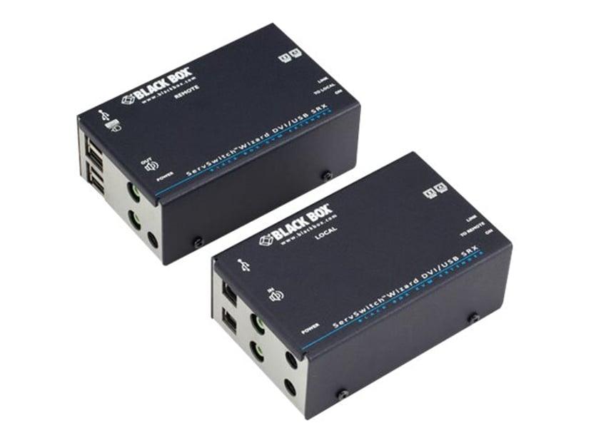 Black Box KVM Extender Over CATX - Dual DVI Audio USB 2.0